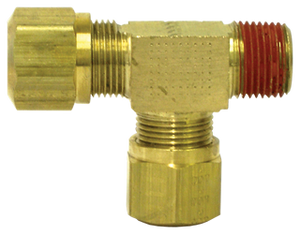 "Tectran 1371-6C  Brass Male Run Tee  3/8""""TUBE-3/8"