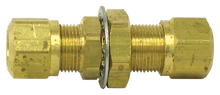 Load image into Gallery viewer, Tectran 1377-8 Brass Bulkhead Union Fitting 1/2 Tube