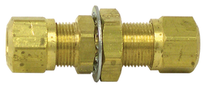 Tectran 1377-8 Brass Bulkhead Union Fitting 1/2 Tube