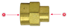 Load image into Gallery viewer, Tectran 119-CB 3/8 Coupler 3/8 Tube Brass