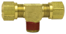 "Load image into Gallery viewer, Tectran 1372-6C Brass Male Branch Tee  3/8""Tube-3/8""Thrd"