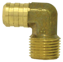 "Load image into Gallery viewer, Tectran 139-6C ""90 Deg Male Brass Elbow 3/8 x 3/8  Thread"