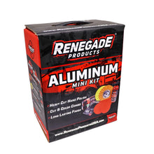Load image into Gallery viewer, Renegade MK-Alum+Vanilla   New Renegade Products USA Aluminum Polishing Complete Mini Kit with Buffing Wheels, Buffing Compounds, Safety Flange, and Rebel Pro Red Polish (Vanill