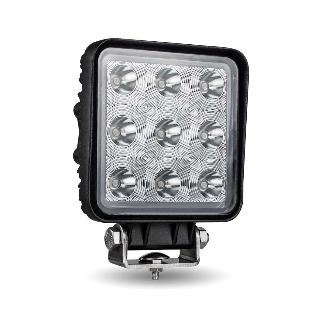 Trux Accessories TLED-U93 Universal Square Epistar LED Spot Work Lamp 9 Diodes 1350 Lumens