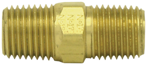 "Tectran 122-C 3/8"" Close Nipple Brass"