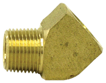 "Load image into Gallery viewer, Tectran 124-B 1/4"" 45 Deg Brass Street Elbow"