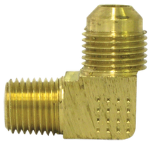 "Load image into Gallery viewer, Tectran 49-4A 1/4"" X 1/8""  90 Deg Flared Brass Elbow"