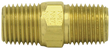 "Load image into Gallery viewer, Tectran 122-D 1/2"" Close Brass Nipple"
