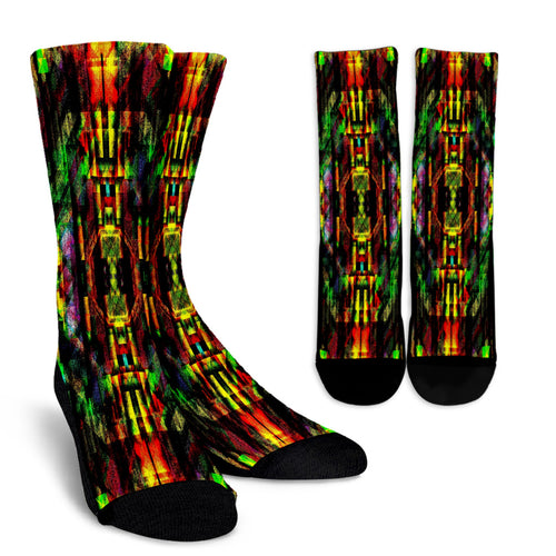 Colorful Abstract Painting Crew Socks - Fathom Urban Tees