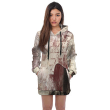 Load image into Gallery viewer, Wall Art Fem Kisses Hoodie Dress - Fathom Urban Tees