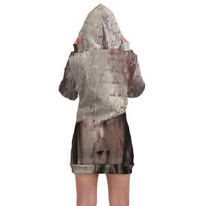 Wall Art Fem Kisses Hoodie Dress - Fathom Urban Tees