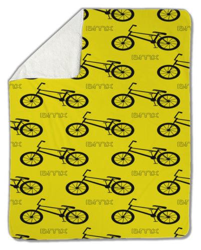Blanket, BMX Bike pattern - Fathom Urban Tees