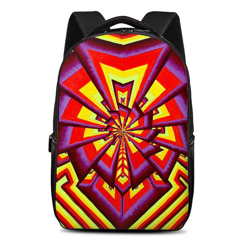 Aliume Fractal by Alex Aliume - Laptop Backpack - Fathom Urban Tees