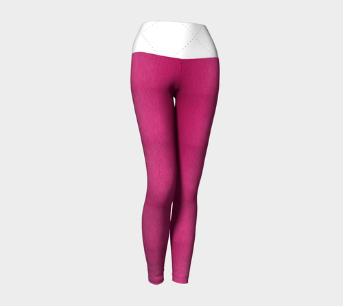 Pink Leather Yoga Leggings - Fathom Urban Tees