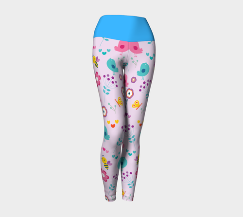 Birds and the Bees Yoga Leggings - Fathom Urban Tees