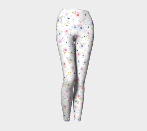 Floral Yoga Leggings - Fathom Urban Tees