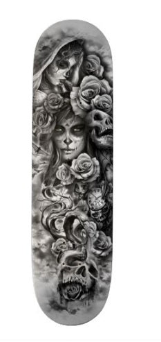 Day of the Dead Skateboard Deck - Fathom Urban Tees