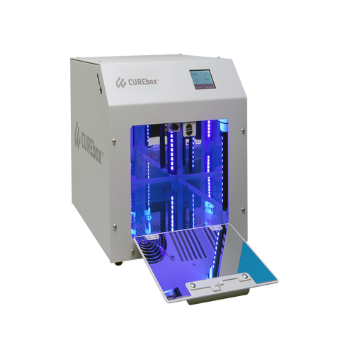 Professional Cure Box for postcuring 3D prints for maximum safety, optimum performance properties and biocompatibility