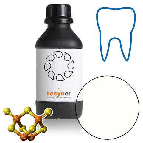 "Dental 3Dresyn OD-R ""Rubber"" Clear for printing hard rubber thin mouth guards, IBTs and retainers"