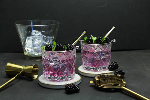 Blackberry lavender gin cocktail