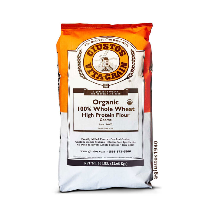 Organic Whole Wheat High Protein Flour