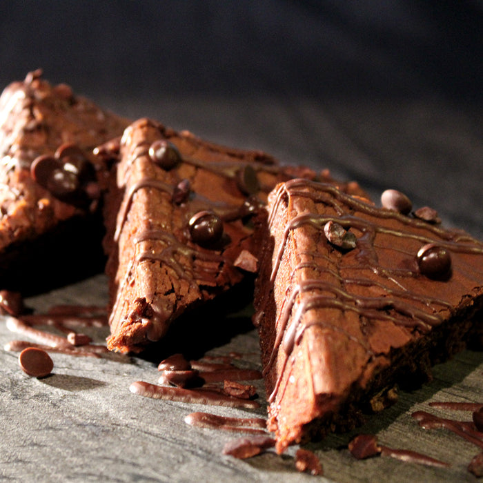 Dark Chocolate Brownies with Luker Cocoa Powder