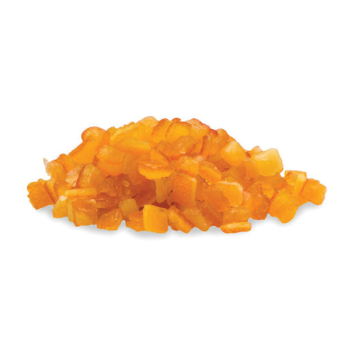 Candied Orange Peel Cubes out of packaging