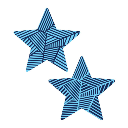 Blue Graphic Star Duo