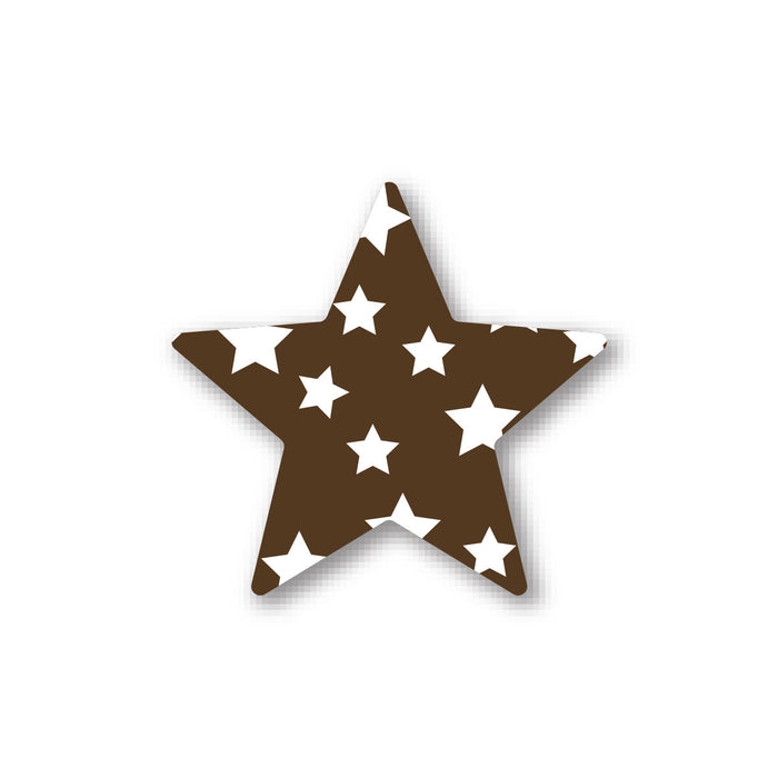 Brown Stars Deco - 1""