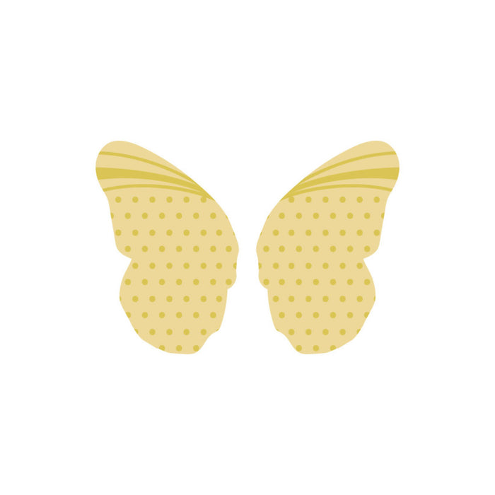 "White Butterfly Wings, natural - 0.67"" x 1.00"""