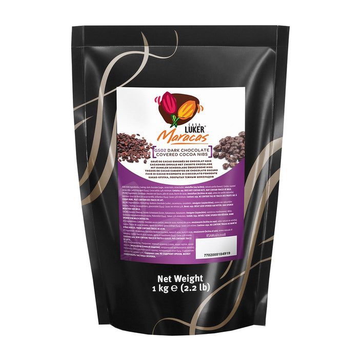 Chocolate Covered Cocoa Nibs in bag