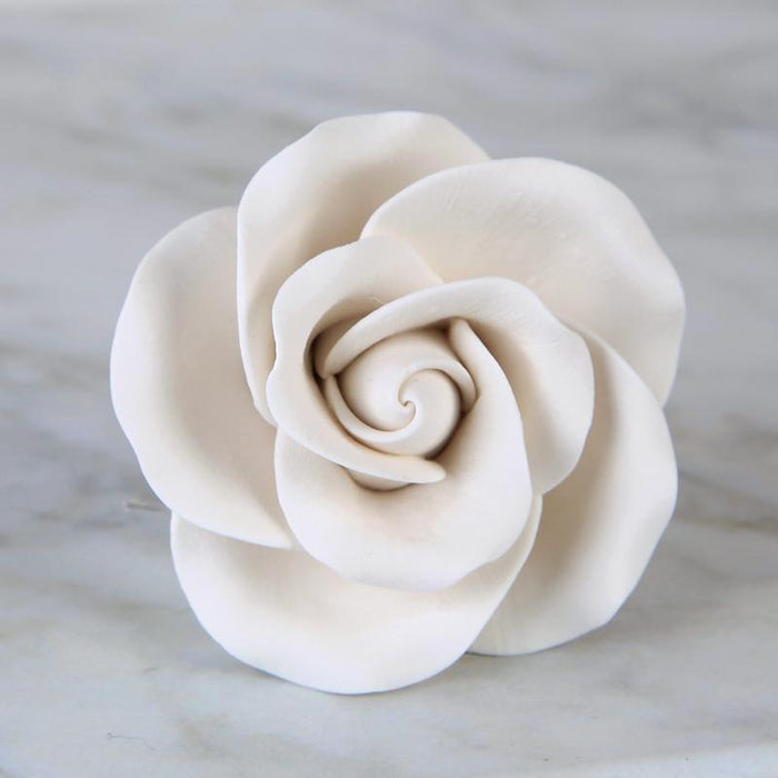 "Large White Tea Roses (2"")"