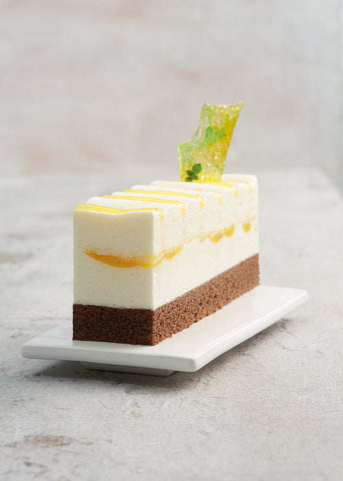 Orange Flavored Mousse Cake with Thyme