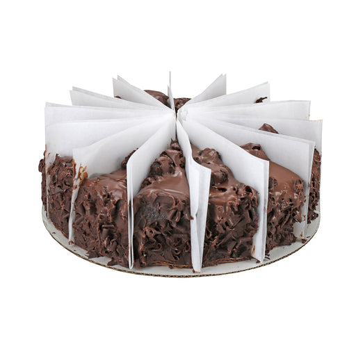 "9"" chocolate lovin' spoon cake, full cake with slices"