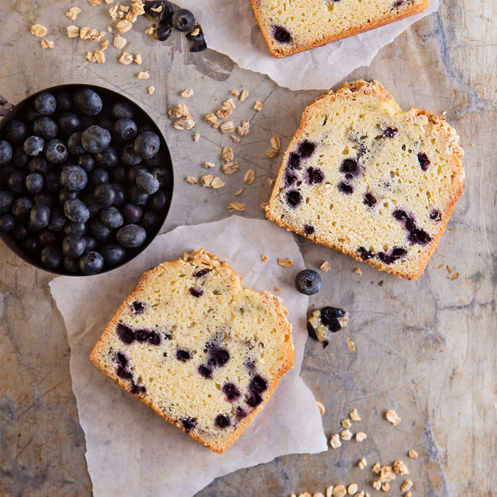Blueberry Oat Loaf