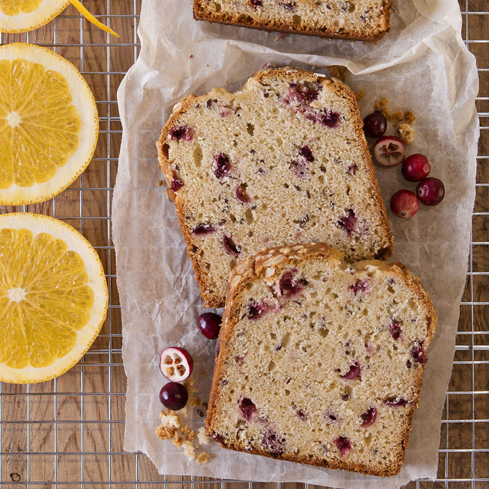 Cranberry Orange Flax Loaf