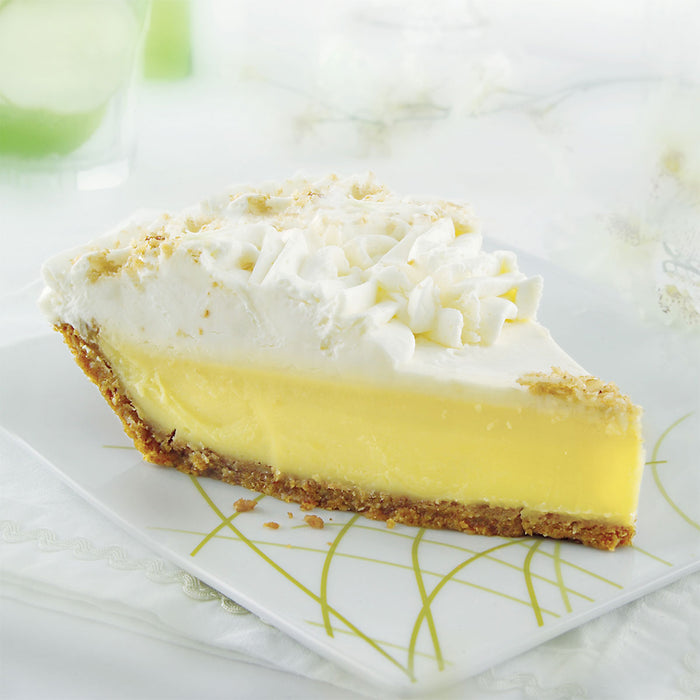key lime pie slice on plate