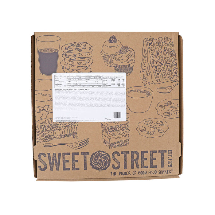 sweet street chocolate peanut butter pie box