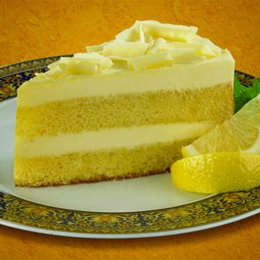 slice of limoncello mascarpone cake