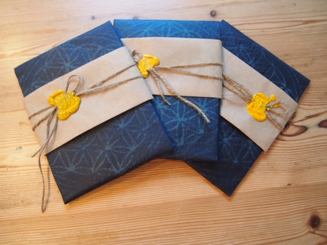aizome Beeswax wrap with Flower of life design (Shipping from Australia)