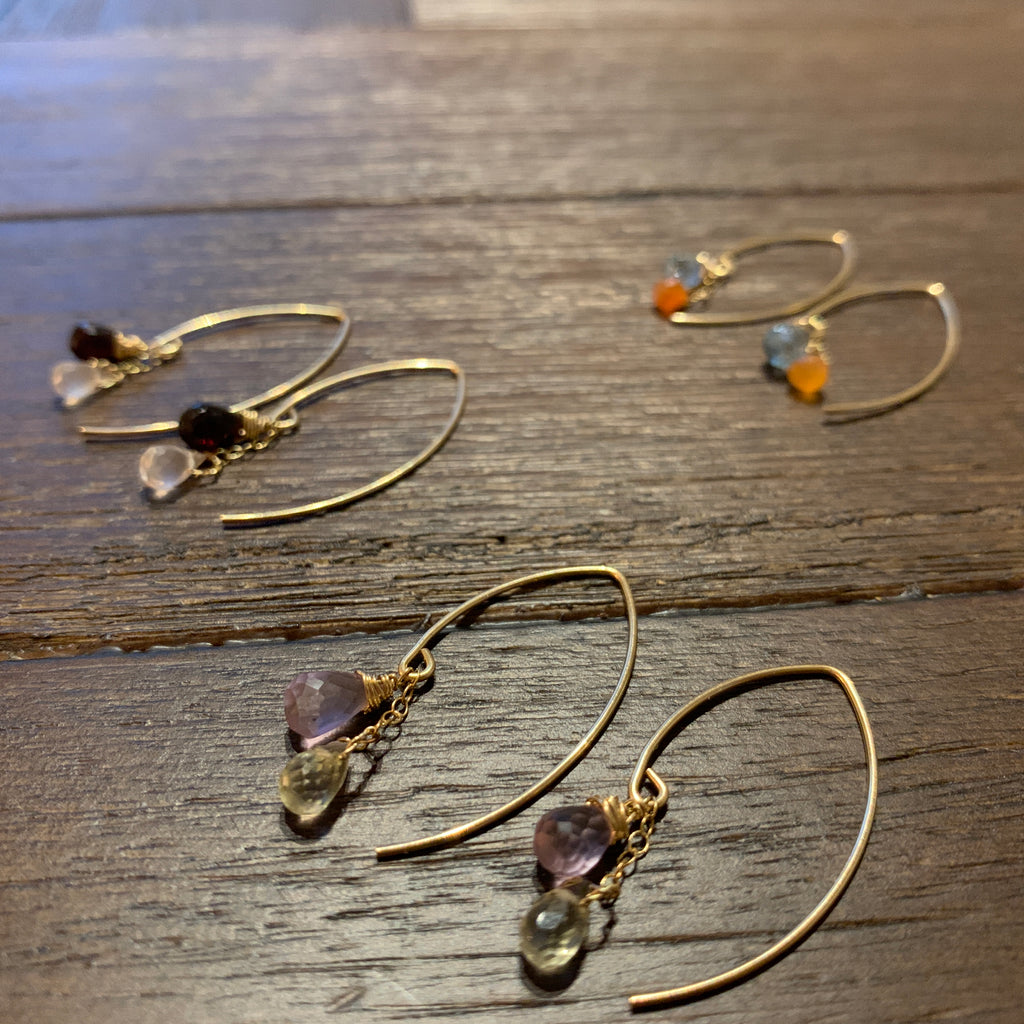 Chakra colorsupport earrings