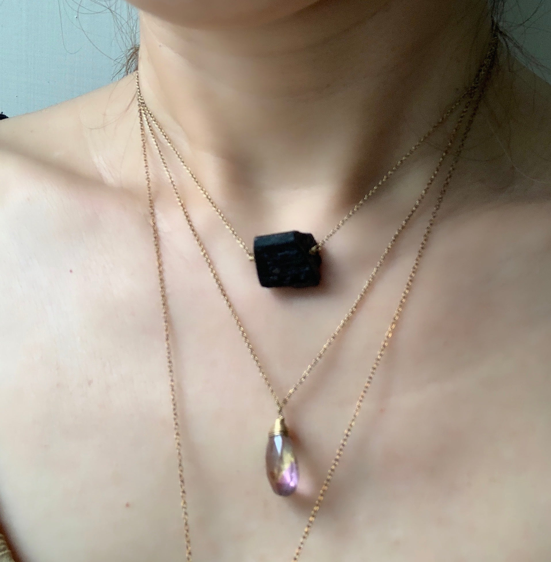 【Protect Me / Black Tourmaline necklace  ブラックトルマリン ネックレス】