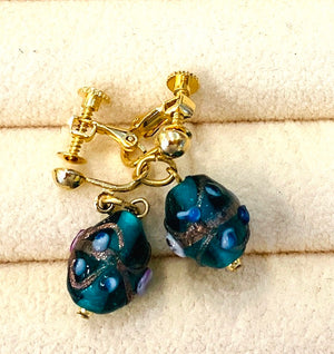 Clip On Earring Hand made クリップ式イヤリング