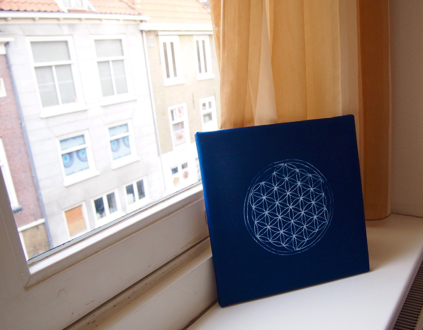 aizome Canvas art/wall art with Sacred geometry design