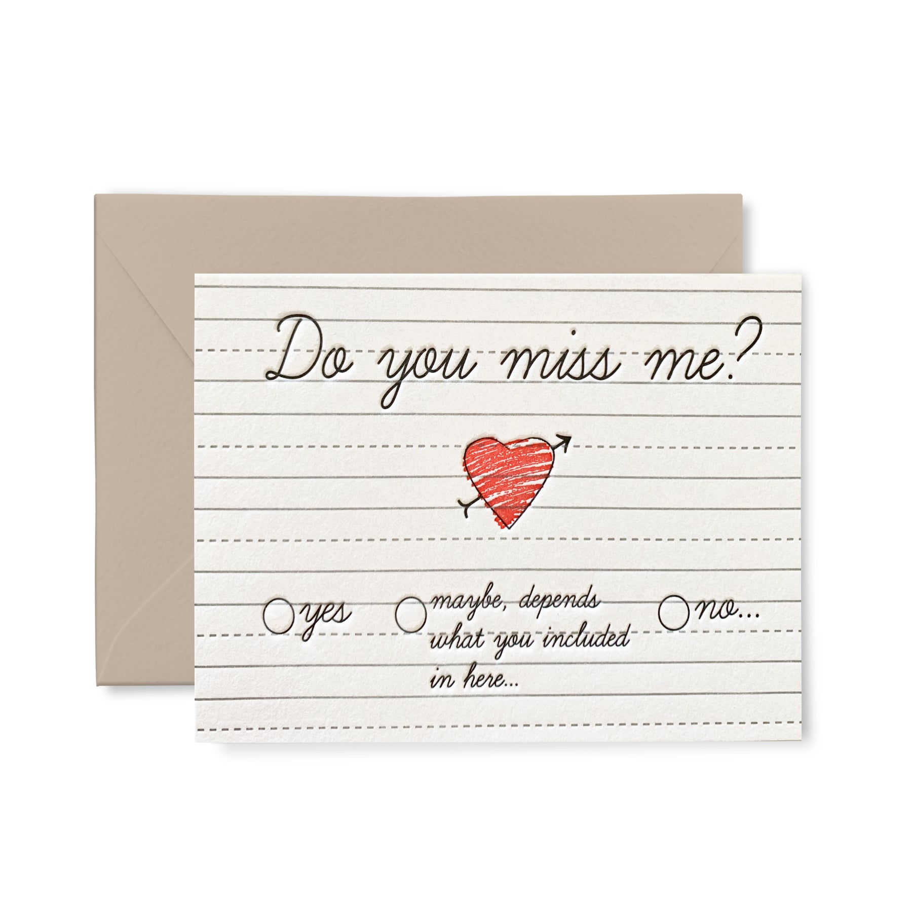 Do You Miss Me - Letterpress Card