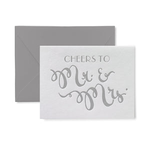 Cheers to Mr. and Mrs. Letterpress Card