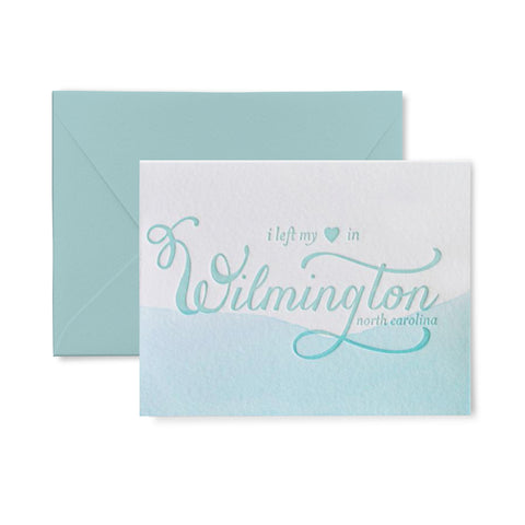 Left my heart in Wilmington Letterpress Card