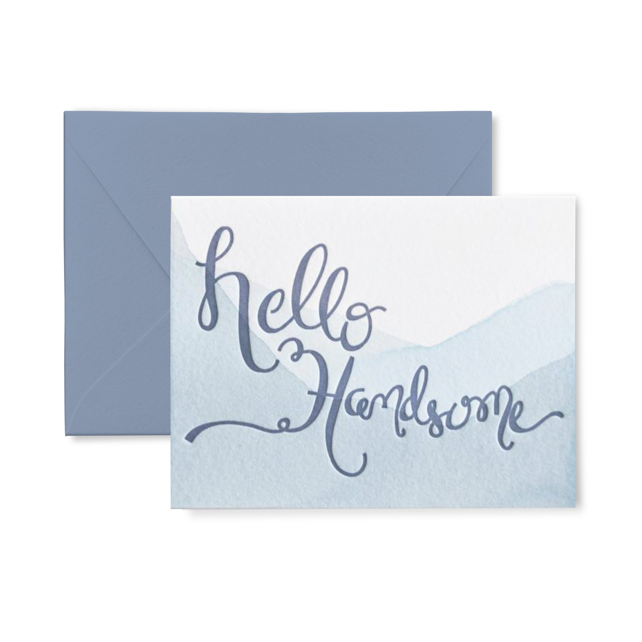 Hello Handsome Letterpress Card
