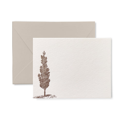 Lone Tree - Letterpress flat card pack