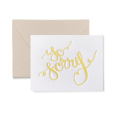 So Sorry Letterpress Card